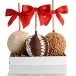 PETITE CARAMEL CHOCOLATE GOURMET APPLE TRIO- GIFT SET OF 3