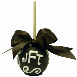 Chocolate Monogrammed Favor Apples