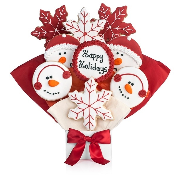 Happy Holidays Cookie Bouquet