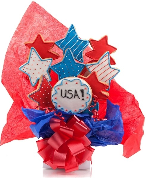 Patriotic Cookie Bouquet