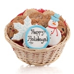 Winter Holidays Cookie Gift Basket