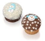 Winter Belgian Chocolate Gourmet Cupcakes- 6 Pack