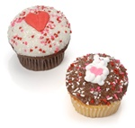 Romantic Belgian Chocolate Gourmet Cupcakes- 6 Pack