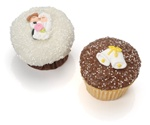 Wedding Belgian Chocolate Gourmet Cupcakes- 6 Pack