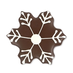 Chocolate Dipped and Decorated Shortbread Cookies - Dark Snowflake