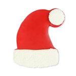 Chocolate Dipped and Decorated Shortbread Cookies - Santa Hat