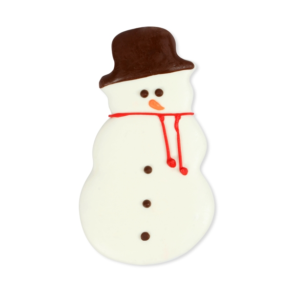 Chocolate Dipped and Decorated Shortbread Cookies - Snowman