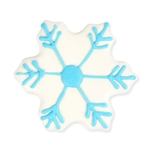 Chocolate Dipped and Decorated Shortbread Cookies - Snowflake