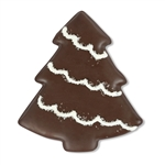 Chocolate Dipped and Decorated Shortbread Cookies - Christmas Tree