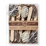 "NEW! Kraft Box of 6 Classic Style 5.5"" Chocolate Spoons"