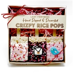 Valentine Lovebirds & Lovenote Chocolate Crizpy Treats- Gift Box of 3