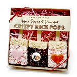 Valentine Hearts & XO Chocolate Crizpy Treats- Gift Box of 3