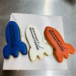Direct Imprint Iced Rocket Cookies, 3.75""