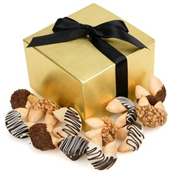 Classic Hand-Dipped Gourmet Fortune Cookies- Gift Box of 24