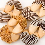 "Classic Hand-Dipped Gourmet Fortune Cookies- INDIVIDUALLY WRAPPED ""BULK"""