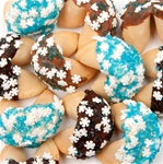 "Sugar Snowflakes Gourmet Fortune Cookies- INDIVIDUALLY WRAPPED ""BULK"""
