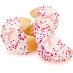 "® Pink Ribbon Fortune Cookies-""Bulk"" Individually Wrapped"