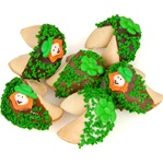 "St. Patrick's Hand Dipped & Decorated Gourmet Fortune Cookies- Individualy Wrapped ""Bulk"""
