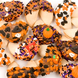 Halloween Dipped & Decorated Gourmet Fortune Cookies