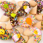 "Happy Birthday Hand-Dipped Gourmet Fortune Cookies- INDIVIDUALLY WRAPPED ""BULK"""