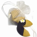 Organza Heart-Shaped Bag with Single Wedding Fortune Cookie