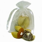 Organza Bag of 2 Wedding Fortune Cookies