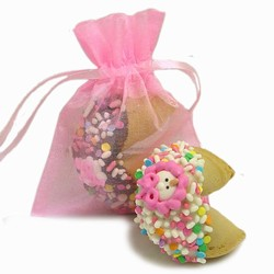New Baby Girl Fortune Cookies- Individually Wrapped 1/Pink Organza Bag