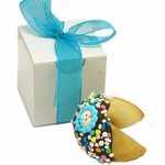 Baby Boy Fortune Cookies -Individually Wrapped & Gift Boxed with Ribbon