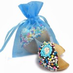 New Baby Boy Fortune Cookies- Individually Wrapped 1/Blue Organza Bag