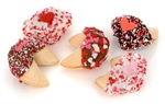 Romantic Hand Dipped & Decorated Gourmet Fortune Cookies-Individually Wrapped