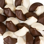 "Yin & Yang Hand-Dipped Gourmet Fortune Cookies- INDIVIDUALLY WRAPPED ""BULK"""