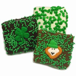"St. Patrick's Day Belgian Chocolate Grahams- Individually Wrapped- ""Bulk"""