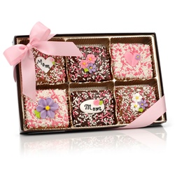 Mother's Day Belgian Chocolate Graham Crackers- Gift Box of 12