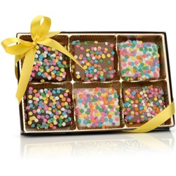 Confetti Belgian Chocolate Graham Crackers- Gift Box of 12