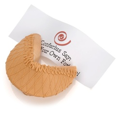 Peanut Butter Dipped & Drizzled Baby Giant Fortune Cookie