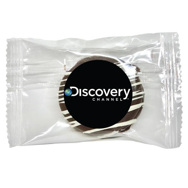 "Gourmet Classic Chocolate Covered Oreo® - Individually Wrapped with Custom 1.5"" Round Glossy Label"