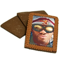 "Chocolate Iced Photo Cookies, Extra Large 4.25"" x 3.25"""