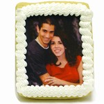 "Wedding Iced Photo Cookies, Extra Large 4.25"" x 3.25"""