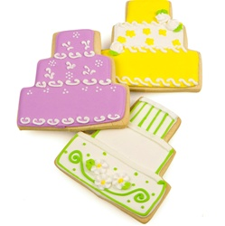 Beautiful Wedding Cake Cookie Favors