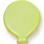 Festive Balloon Cookie Favor- Kiwi Green