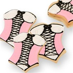 Corset Cookie Favor- Pink and Black