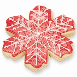 Elegant Snowflake Cookie Favor - Holiday Red