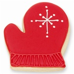 Red Mitten Cookie Favor