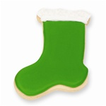Green Stocking Cookie Favor