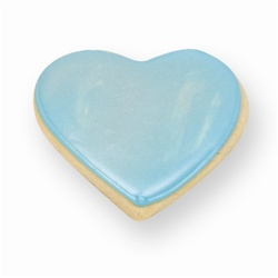 Blue Heart Cookie Favor