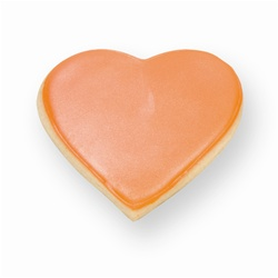 Orange Heart Cookie Favor