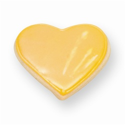 Yellow Heart Cookie Favor