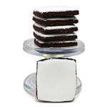 Square Cocoa Hand Iced Cookie