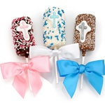 Christening Chocolate-Dipped Marshmallows Favors