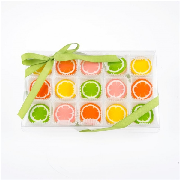 Citrus Mini Cookie Clear Gift Box- 15 pc
